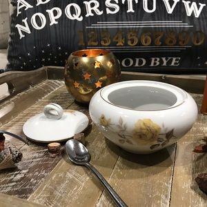 🍁1950's Vintage Dawn Rose Sugar Bowl 🍁